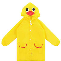 Яркий детский плащ дождевик с капюшоном - цвета в ассортименте Желтый, с доставкой по Киеву и Украине