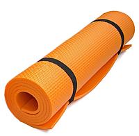 Коврик каремат для йоги, фитнеса и танцев Profi Fitness 173 x 61 см Оранжевый