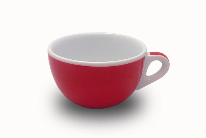 Чашка 350 мл. фарфоровая, белая с красной полоской caffelatte Verona Millecolori, Ancap