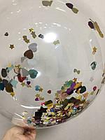 Светящиеся шарики,наполнитель для шариков звезды,сердца, фото 1
