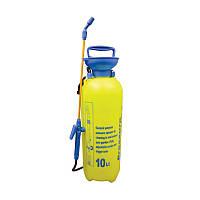 Ручной садовый помповый опрыскиватель для сада и огорода Pressure Sprayer 10 литров, Желтый