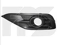 Решетка бампера левая Honda CR-V (12-15) USA черная, с отв. (FPS)