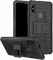Чехол-накладка TOTO Dazzle kickstand 2 in 1 phone case Xiaomi Redmi Note 5 Black