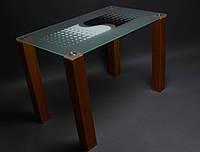 """Стол стеклянный """"Противодействие""""  стол для гостинной или кухни"""