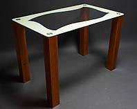 """Стол стеклянный """"Волна""""  стол для гостинной или кухни"""