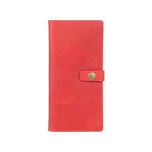Эргономический кожаный тревел-кейс красного цвета