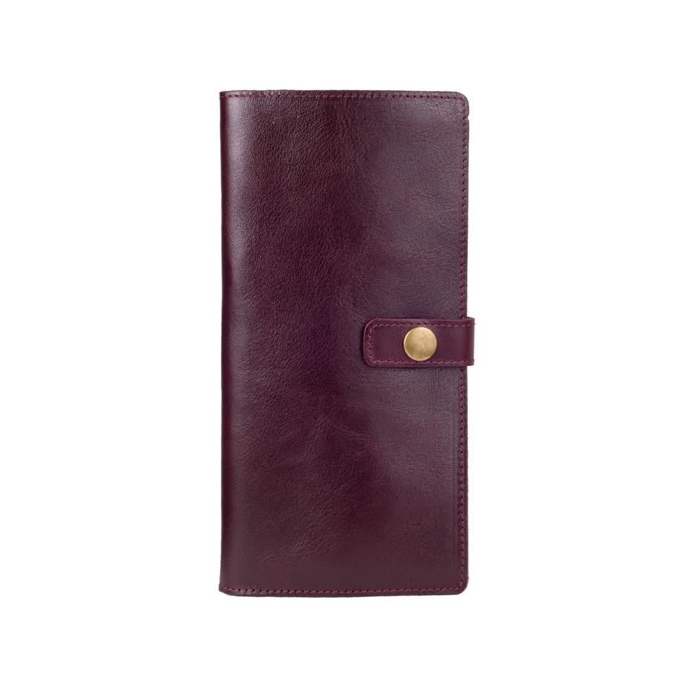 Эргономический кожаный тревел-кейс фиолетового цвета