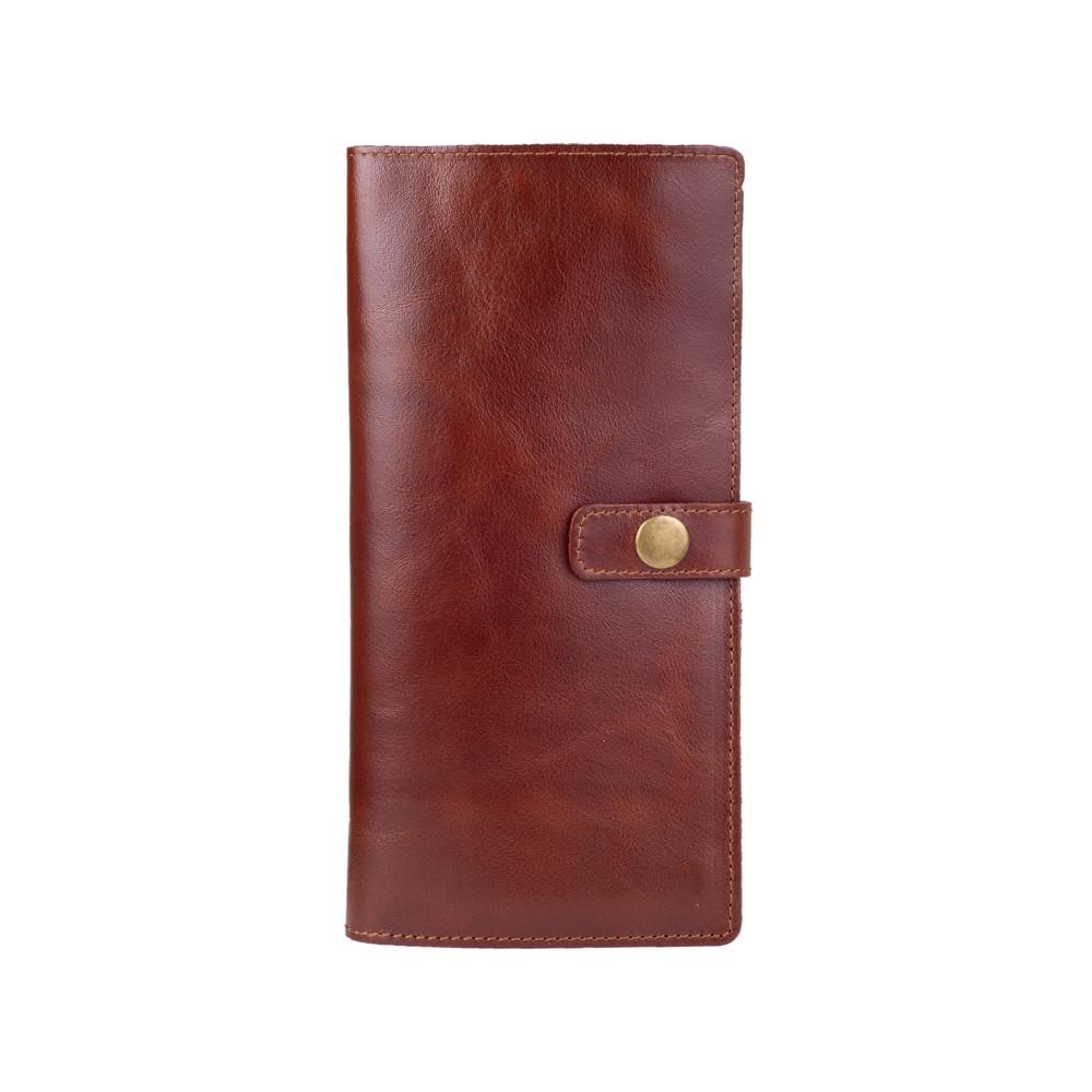 Эргономический кожаный тревел-кейс коньячного цвета