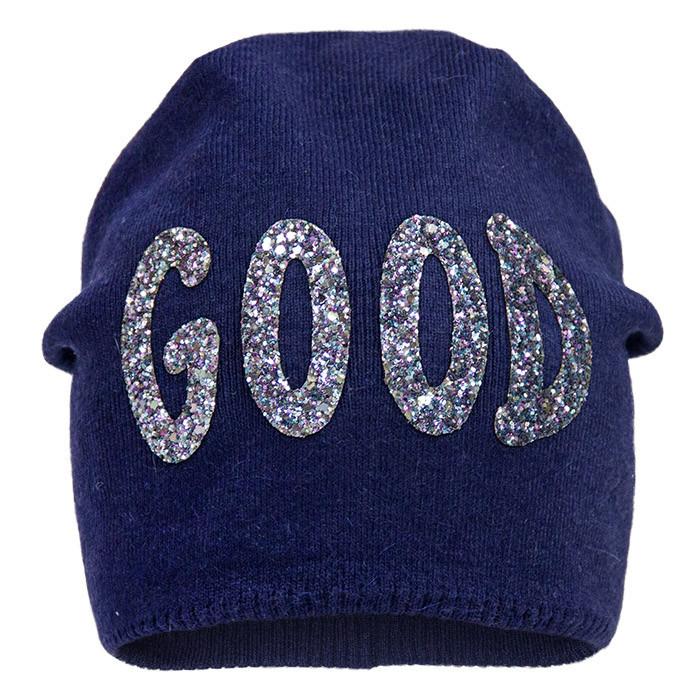 Демисезонная детская шапка (серая и синяя)  р-ры 52,54