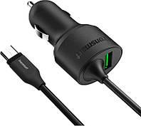 Автомобильное зарядное устройство Tronsmart CCTA Quick Charge 3.0 & Type C Car Charger Black, фото 1