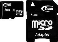 Карта памяти Team microSDHC class10 SD adapter 8Gb, фото 1
