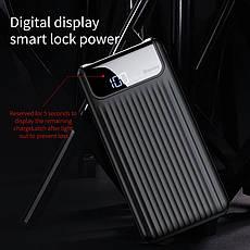Внешний аккумулятор Power bank BASEUS 10000 mAh Quick Charge 3.0 с ЖК дисплеем Black, фото 3