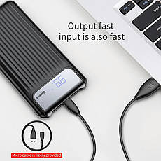 Внешний аккумулятор Power bank BASEUS 10000 mAh Quick Charge 3.0 с ЖК дисплеем White, фото 3