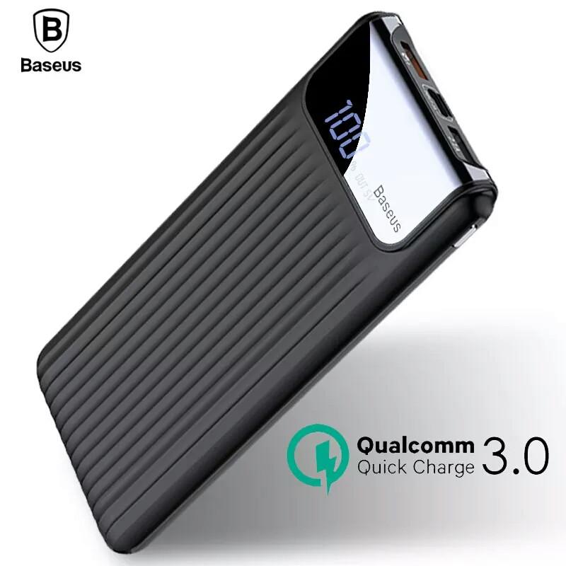 Внешний аккумулятор Power bank BASEUS 10000 mAh Quick Charge 3.0 с ЖК дисплеем Black
