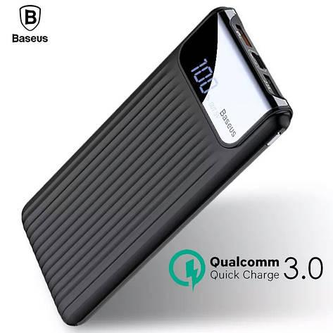 Внешний аккумулятор Power bank BASEUS 10000 mAh Quick Charge 3.0 с ЖК дисплеем Black, фото 2