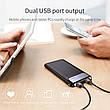 Внешний аккумулятор Power bank BASEUS 10000 mAh Quick Charge 3.0 с ЖК дисплеем White, фото 5