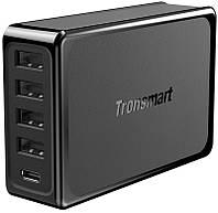 Сетевое зарядное устройство Tronsmart U5P 60W USB PD Desktop Charger with VoltiQ Black, фото 1