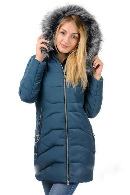 Зимняя женская куртка с искусственным мехом