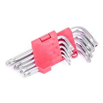 Набор Г-образных ключей TORX с отверстием Cr-V INTERTOOL HT-0604