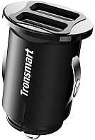 Автомобильное зарядное устройство Tronsmart C24 Dual USB Port Car Charger Black, фото 1