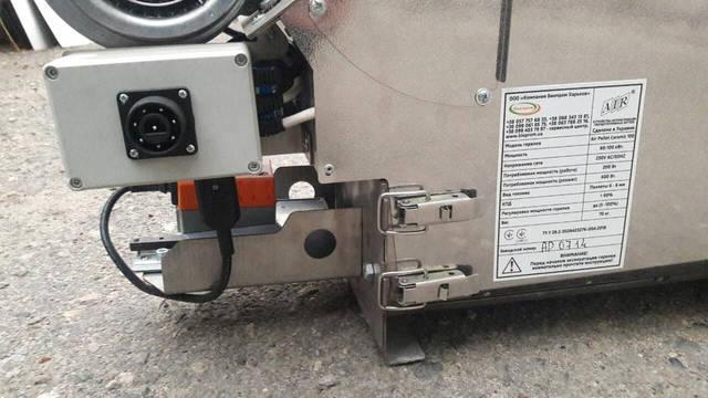 Горелка 100 кВт- вид задней части и подключение электрочасти.