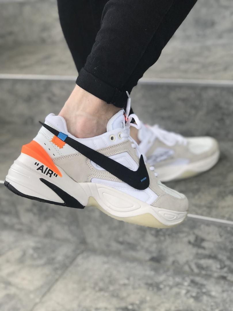 1ae5079a Кроссовки в Стиле Off White X Nike M2K Tekno Beige/White Мужские — в ...