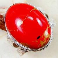 Серебряное кольцо с красной яшмой