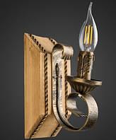 Бра деревянное свеча кантри  AR-004515 настенный светильник, фото 1