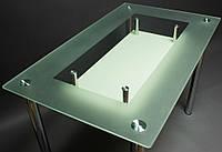 """Стол стеклянный """"СК-4"""" стол для гостинной или кухни"""