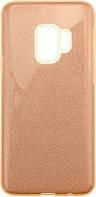 Чехол-накладка TOTO TPU Case Rose series 3 IN 1 Samsung Galaxy S9 (G960) Gold, фото 1