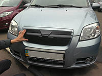Зимняя заглушка на решетку радиатора Chevrolet Aveo  Шевролет Авео