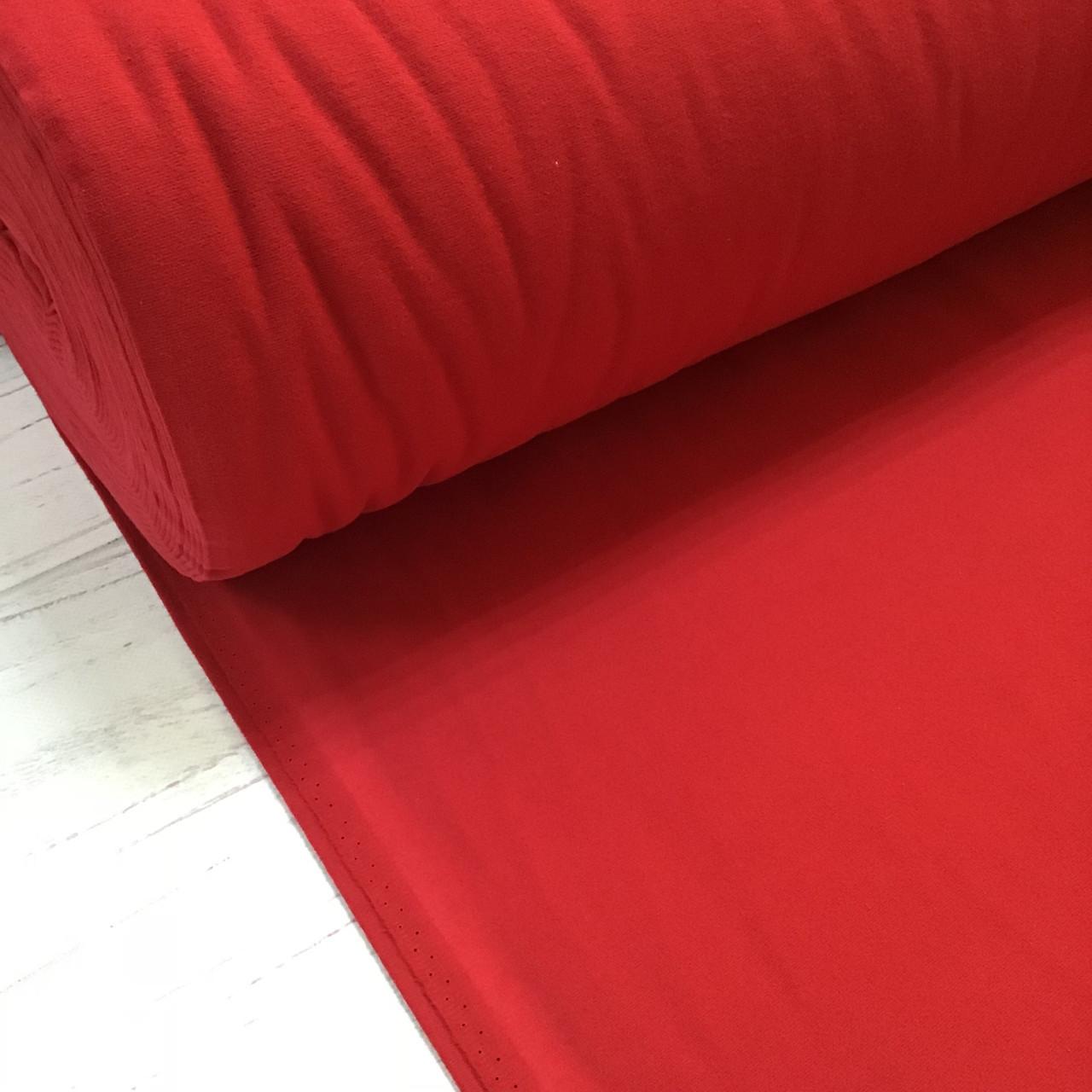 Фланелевая ткань красная однотонная (шир. 2,4 м)