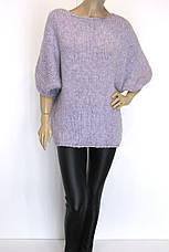 жіночий вязаний светр реглан оверсайз, фото 3