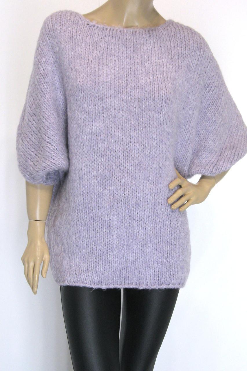 жіночий вязаний светр реглан оверсайз