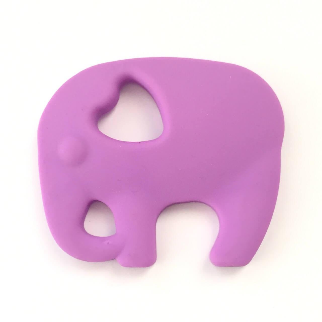 Слон с круглым хоботом (сирень) прорезыватель для зубов