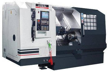 Двухшпиндельный, двухревольверный токарный станок RAIS Т252-2S