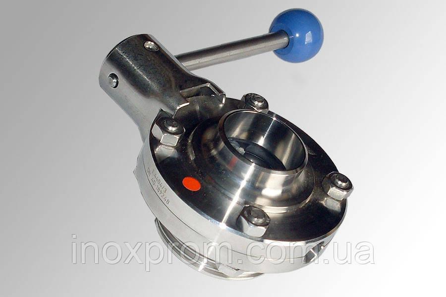 Клапан дисковий DN150 AISI 304 різьблення-зварювання