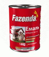 Эмаль алкидная ПФ-115 Fazenda тёмно-серая 0.9 кг