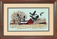 Набір для вишивки хрестом Dimensions 13732 «Гуси взимку»