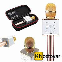 Беспроводной микрофон-караоке с чехлом Bluetooth Q7 MS