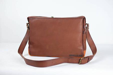 Мужская сумка коричневая италия