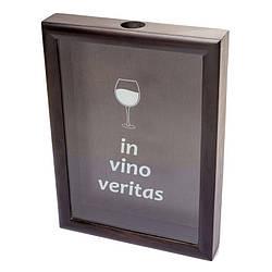 Пробочница PRK-61 38х28х5,5 см. черная In vino veritas черная