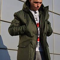 1f949bda Зимняя куртка парка мужская хаки от бренда Light Cloud размер S, M, L,