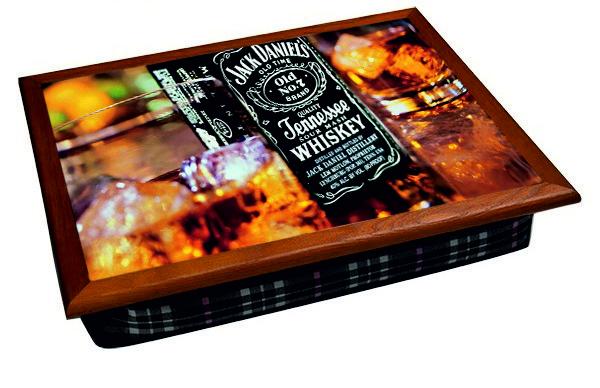 Поднос на подушке BST 040400 44*36 коричневый виски
