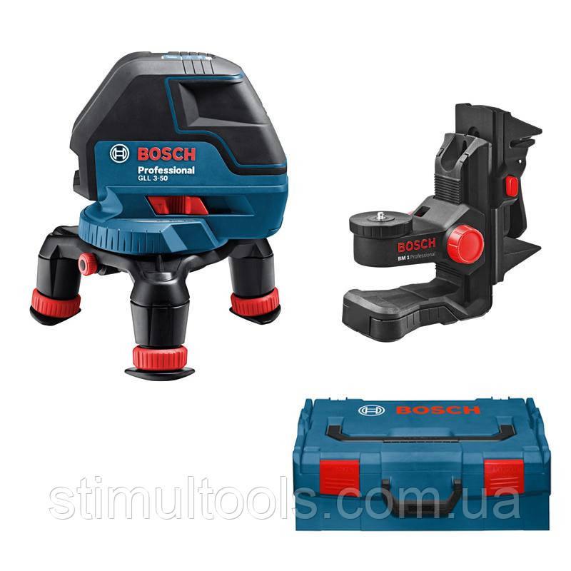 Нивелир лазерный Bosch GLL 3-50 + BM 1 +  L-BOXX