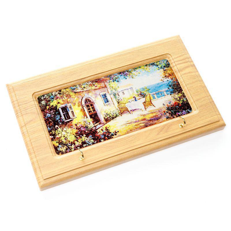 """Ключница с фаской BST 020005 25×15×4 см разноцветная """"Столик на Двоих"""""""