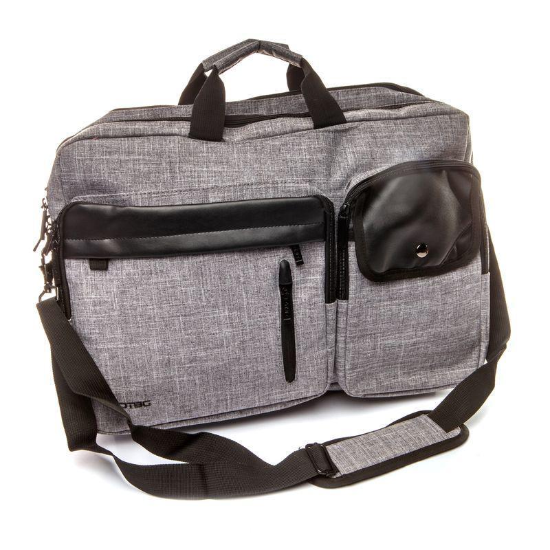 Рюкзак-сумка мужской городской Houston BST 320013 36х28х47 см. серый