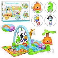 """Коврик для младенцев с игрушками, развивающий, музыкальный. """"Умный малыш"""" или """"Тропический лес"""" 7181"""