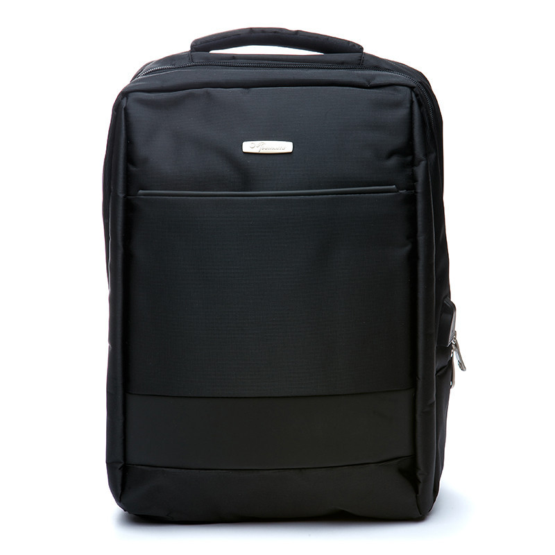 Рюкзак мужской городской черный с USB портом