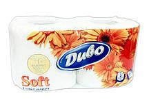 """Туалетная бумага на гильзе двухслойная, белая """"Диво Soft"""" (2шт)"""